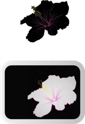 free vector Hibiscus  clip art