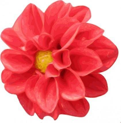 free vector Dahlia Rose clip art