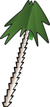 Leaning Palm Tree clip art