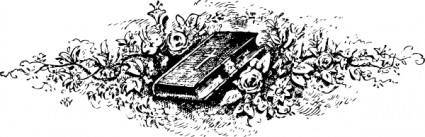 free vector Bible Among Roses clip art