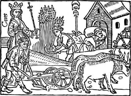 free vector Medieval Farming clip art