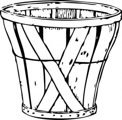free vector Bushel Basket clip art
