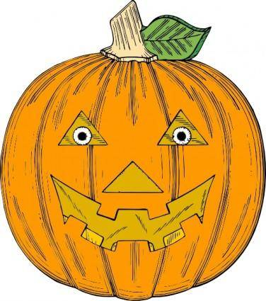free vector Pumpkin Face clip art