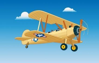 free vector Vintage Aircraft Flight
