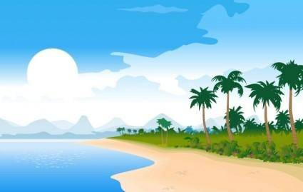 free vector Free Vector Summer Beach Image