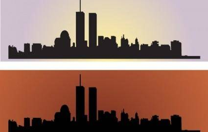 free vector Skyline US NewYork City Vectors
