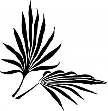 free vector Fronds Silhouette clip art
