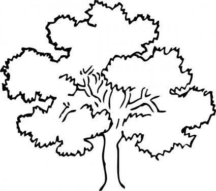 free vector Oak Tree clip art