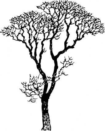 free vector Bare Tree clip art