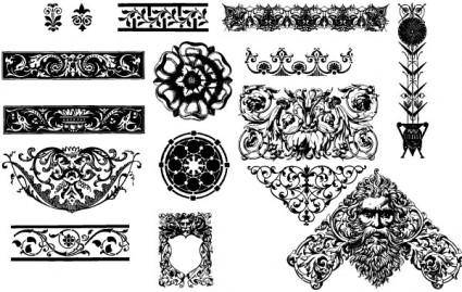 free vector Victorian ornaments