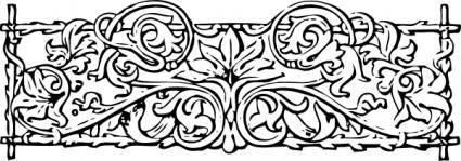 Vines And Trellis Stylized clip art