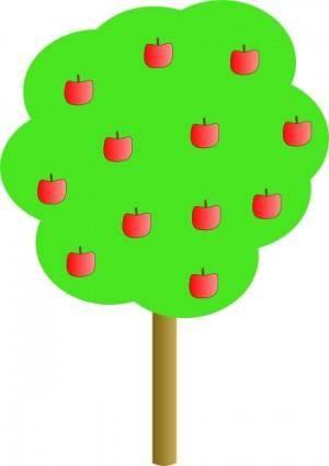 free vector Apple Tree clip art