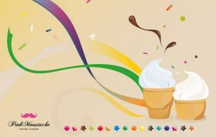 free vector Ice cream is good for your health!