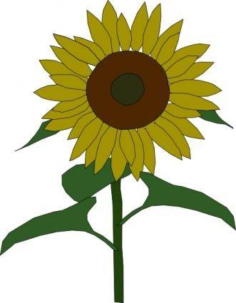 free vector Sun Flower clip art