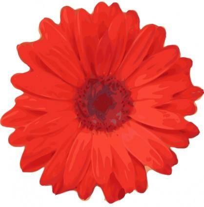 Red Flower Pedals clip art