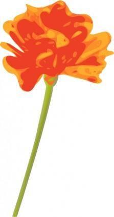 free vector Orange Flower clip art