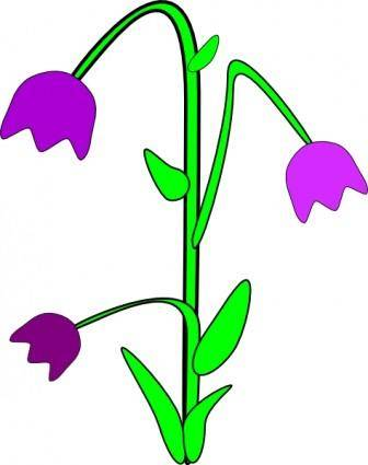 Purple Bell Flowers clip art