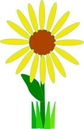 Simple Yellow Flower clip art