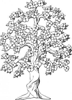 free vector Flowering Tree clip art