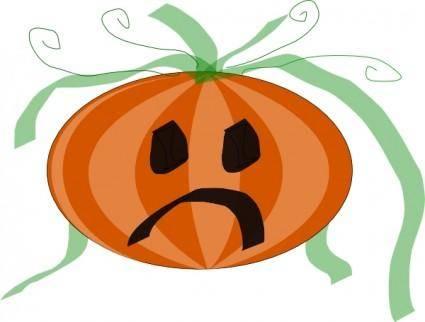 free vector Decorated Sad Pumpkin clip art