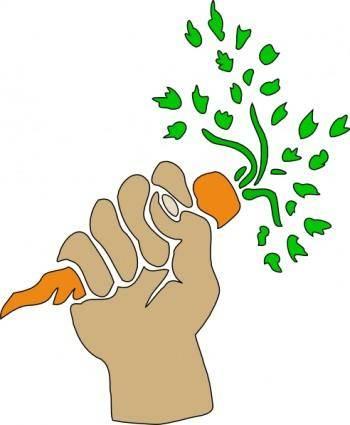 Hand Holding Carrot clip art