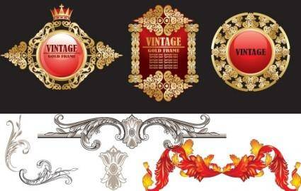 free vector Vintage Decorative Vectors