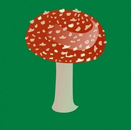 Amanita Toxic Mushroom clip art