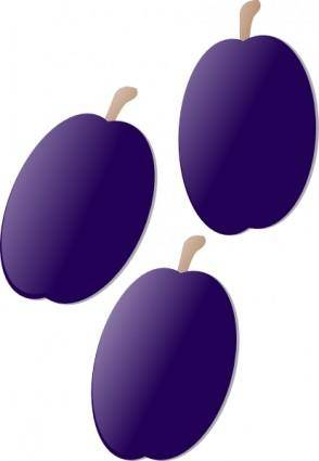 free vector Plums clip art