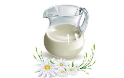 free vector MILK AND CAMOMILE VECTOR