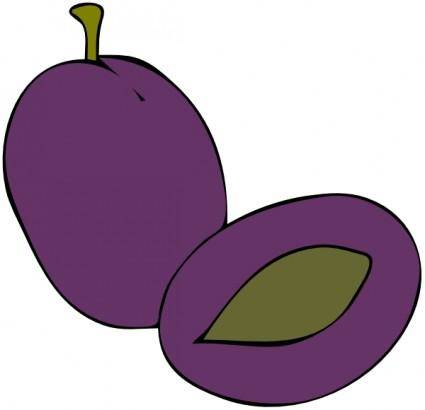 Plum Fruit Food clip art