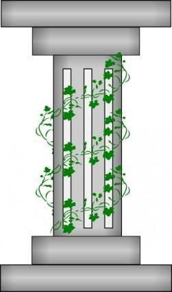 Pillar With Plant Vines clip art