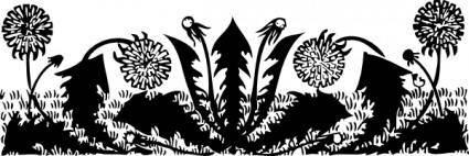 Dandelions clip art