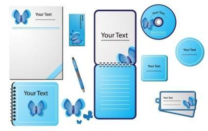 free vector STATIONERY DESIGN VECTORS