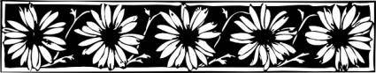 free vector Daisy Border clip art