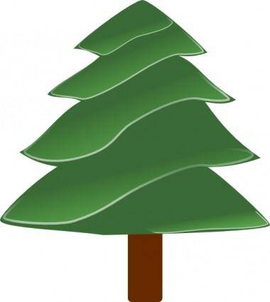Simple Evergreen, With Highlights clip art