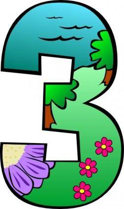 Creation Day 3 Number clip art