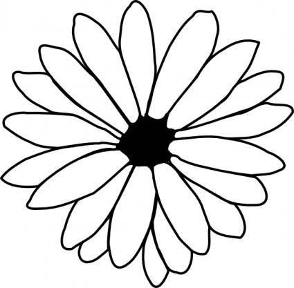 free vector Flower Outline clip art
