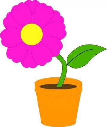 Flowerandpot clip art