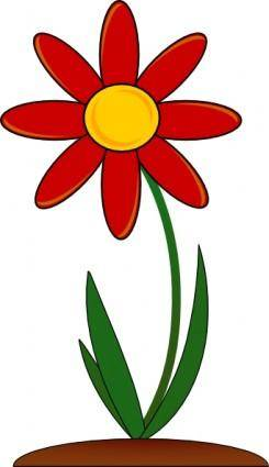 Red_flower clip art