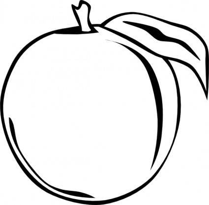 Peach Apple clip art