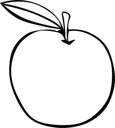 Apple Coloring Fruit clip art