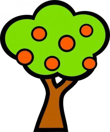 Tree With Fruits clip art