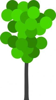free vector Cartoon Tree clip art