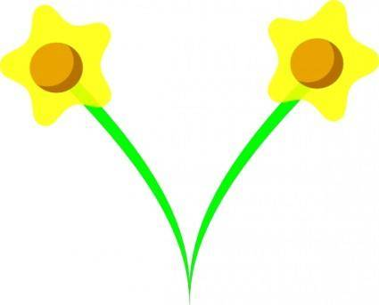 Simple Five Pettle Daffodil clip art