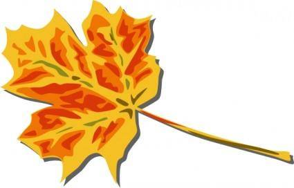 Fall Coloured Leaf clip art