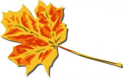 free vector Fall Coloured Leaf clip art