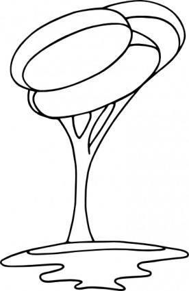 free vector Arbre_modern_bw clip art