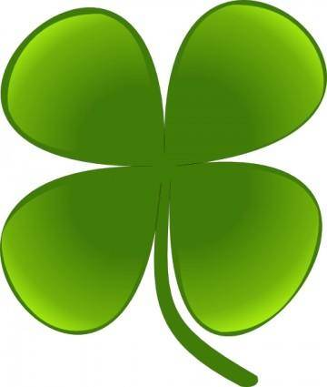 free vector Shamrock For March clip art