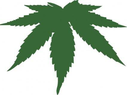free vector Cannabis Leaf clip art