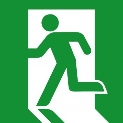 free vector Emergency Exit Sign clip art